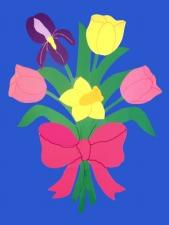 Seasonal Flowered House Flags