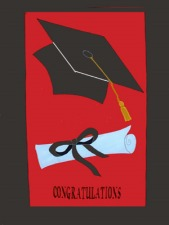 Graduation  Designs House Flags